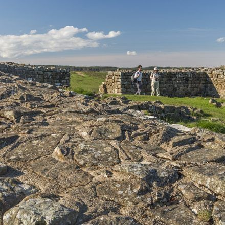 A coupple soaking in the heritage of Milecastle 39