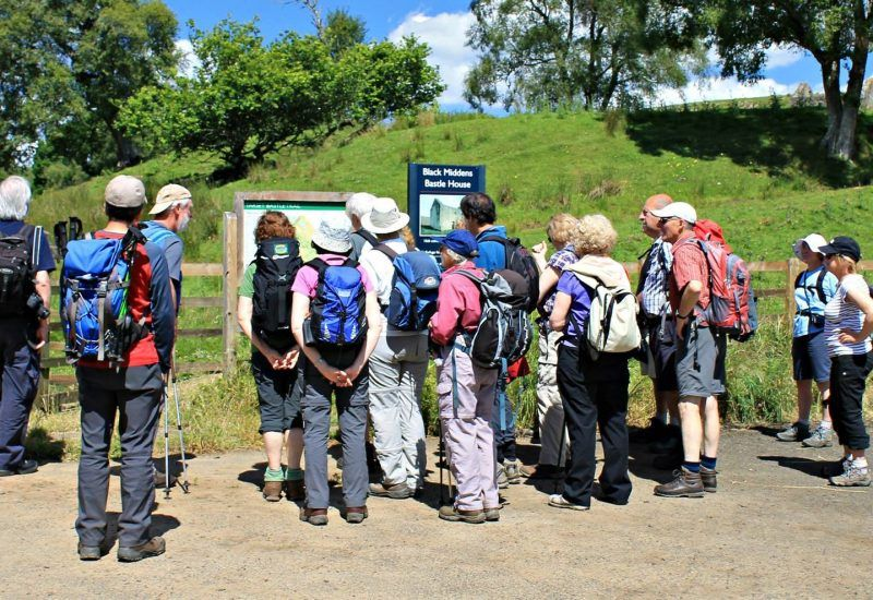 Guided walkers in Northumberland National Park
