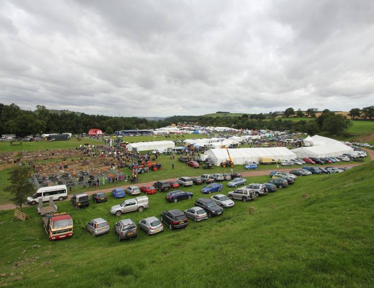 A view of cars parks in the Glendale Show Grounds