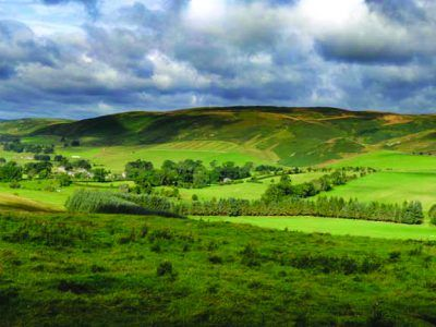 The village of Alwinton in the Northumberland National Park