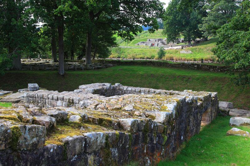 A view of some of the remains of Chesters Roman Fort