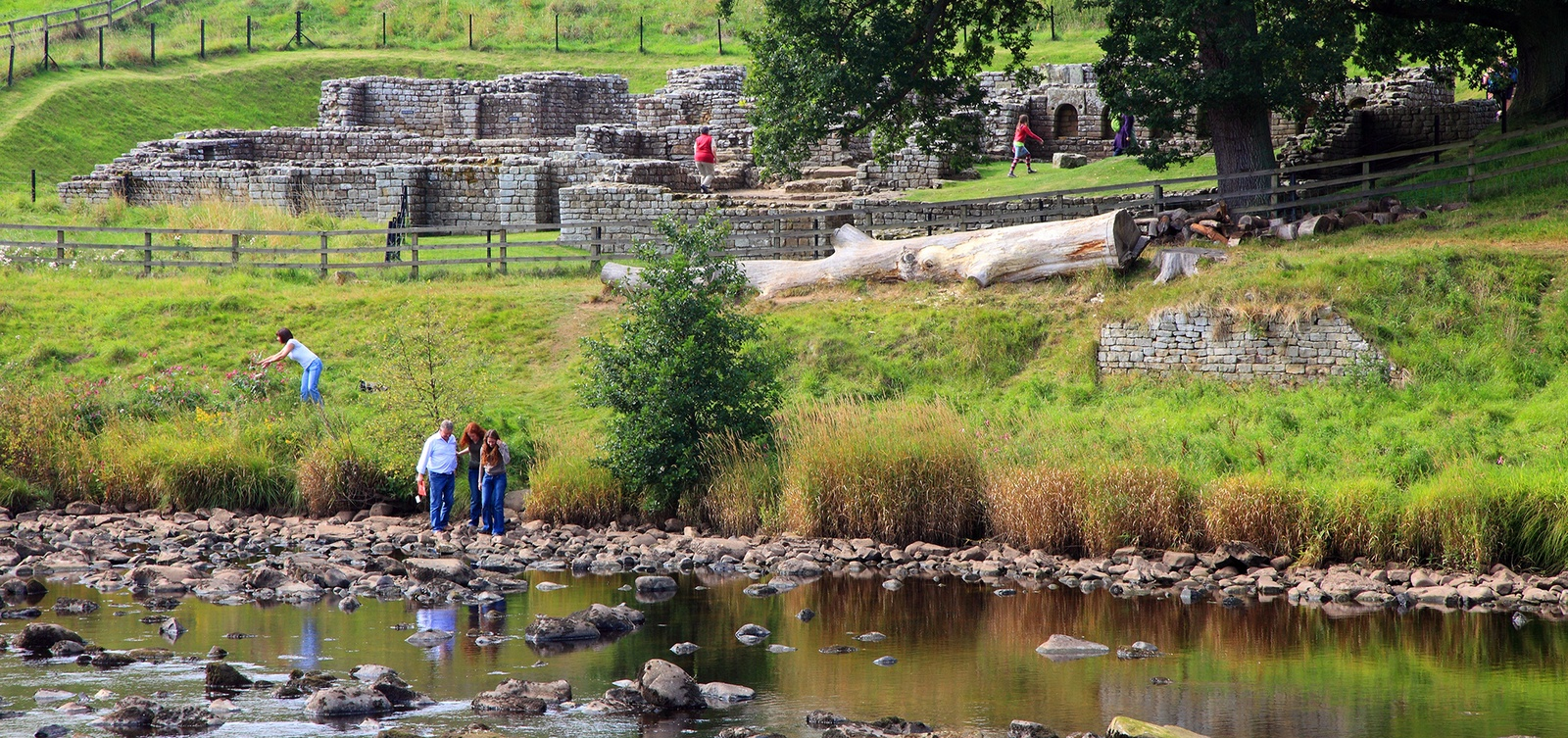 The river at Chesters Roman Fort