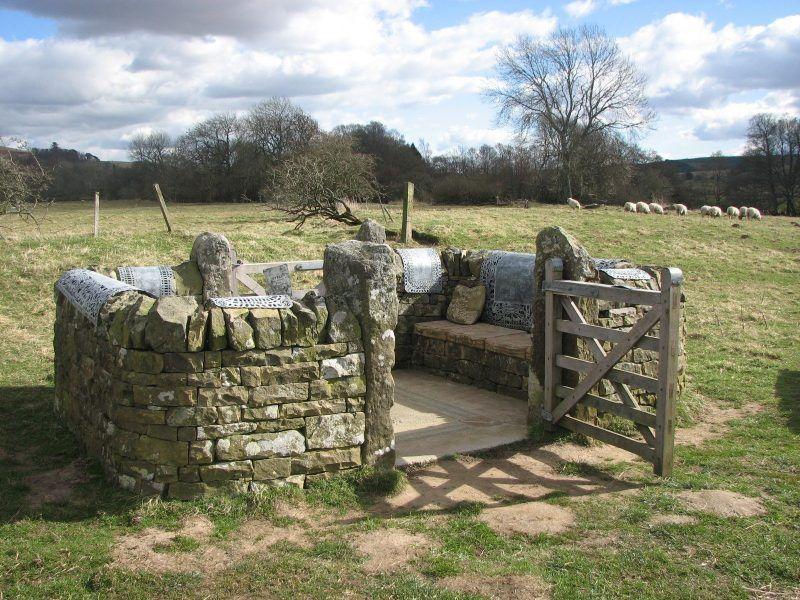 The STell installation in Falstone Village