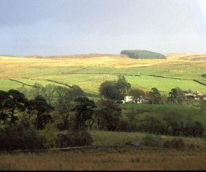 A rainbow over the village of Greenhaugh