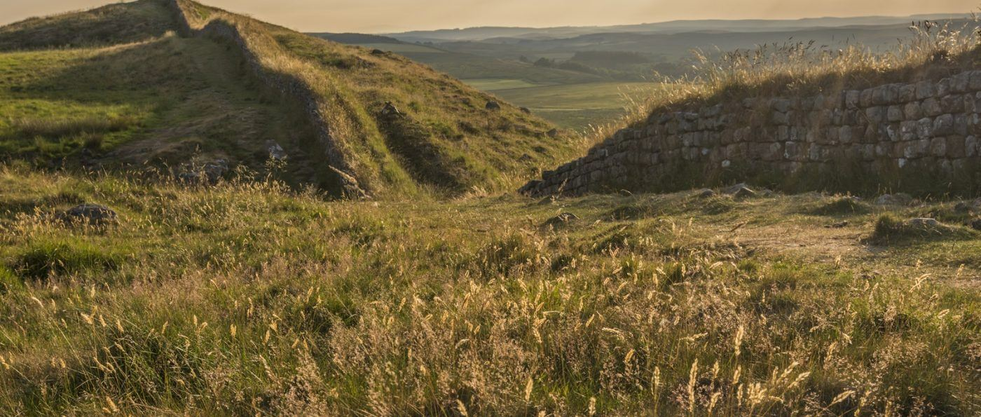 a view of Hadrians Wall