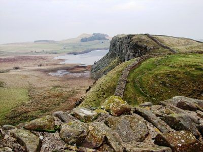 the view from steel rigg on hadrian's wall