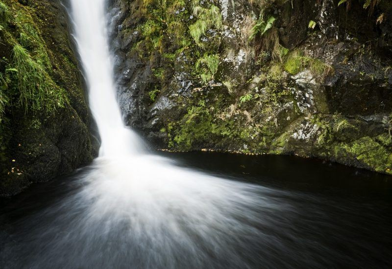 Linhope Spout waterfall in the Northumberland National Park