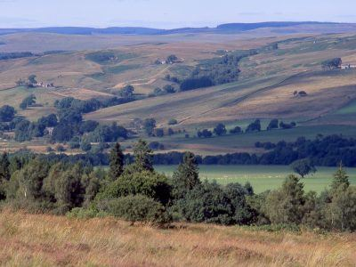 The view from Belligham in the Northumberland National Park