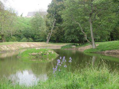 Otterburn Tower pond