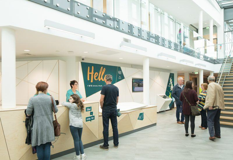 reception at The Sill Visitor Centre