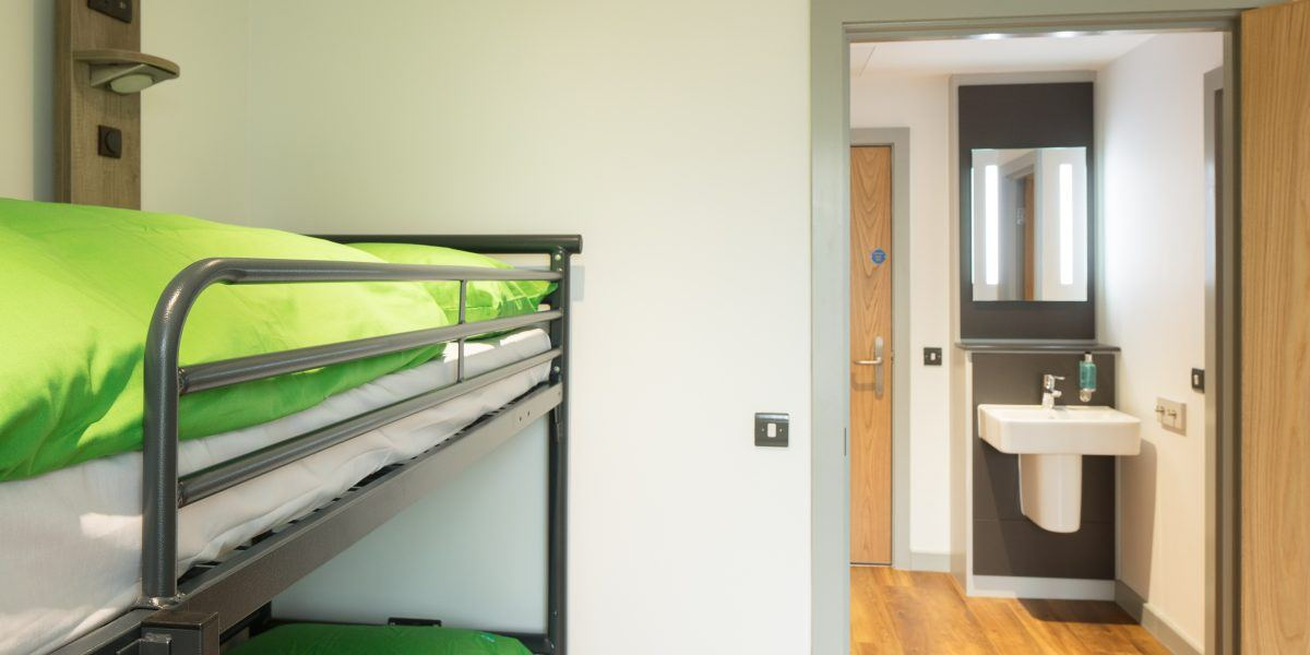 Bedroom at the YHA at The Sill