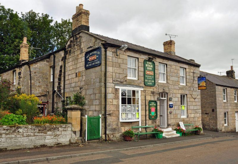 The Star Inn at Harbottle which has one of our Information Points