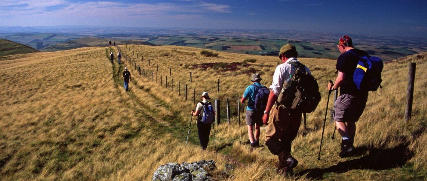 Walkers on the Pennine Way
