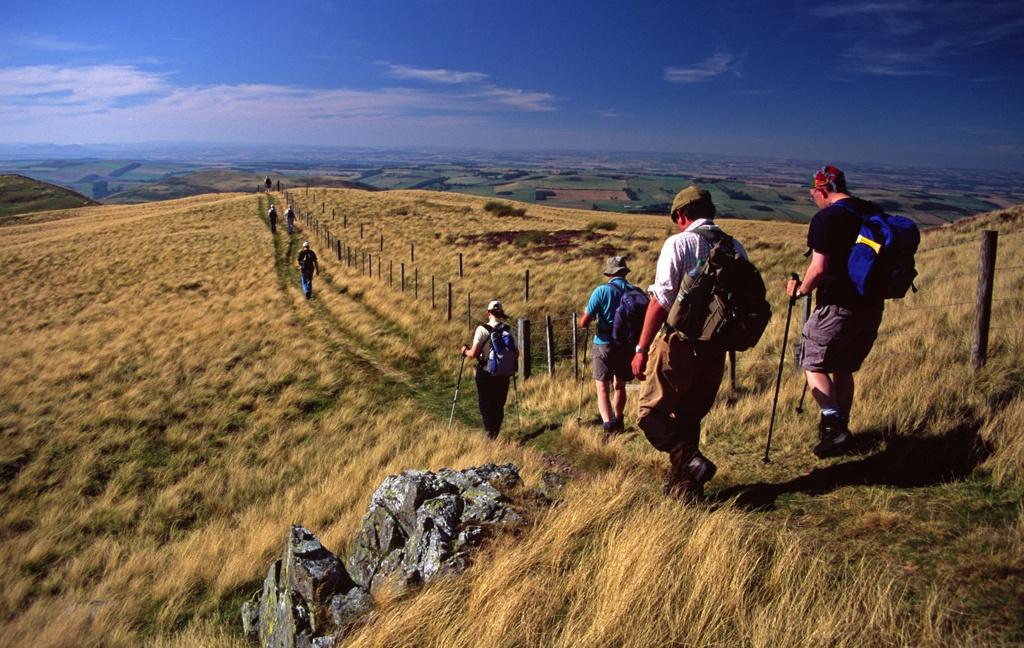 Walkers on the Border Ridge