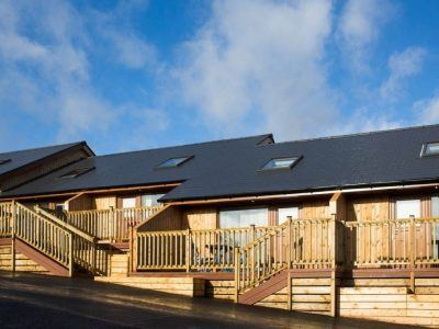 Luxury lodges at Battlesteads