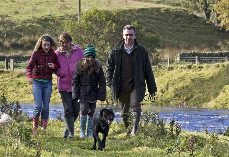 Young family on the Falstone Circular Walk
