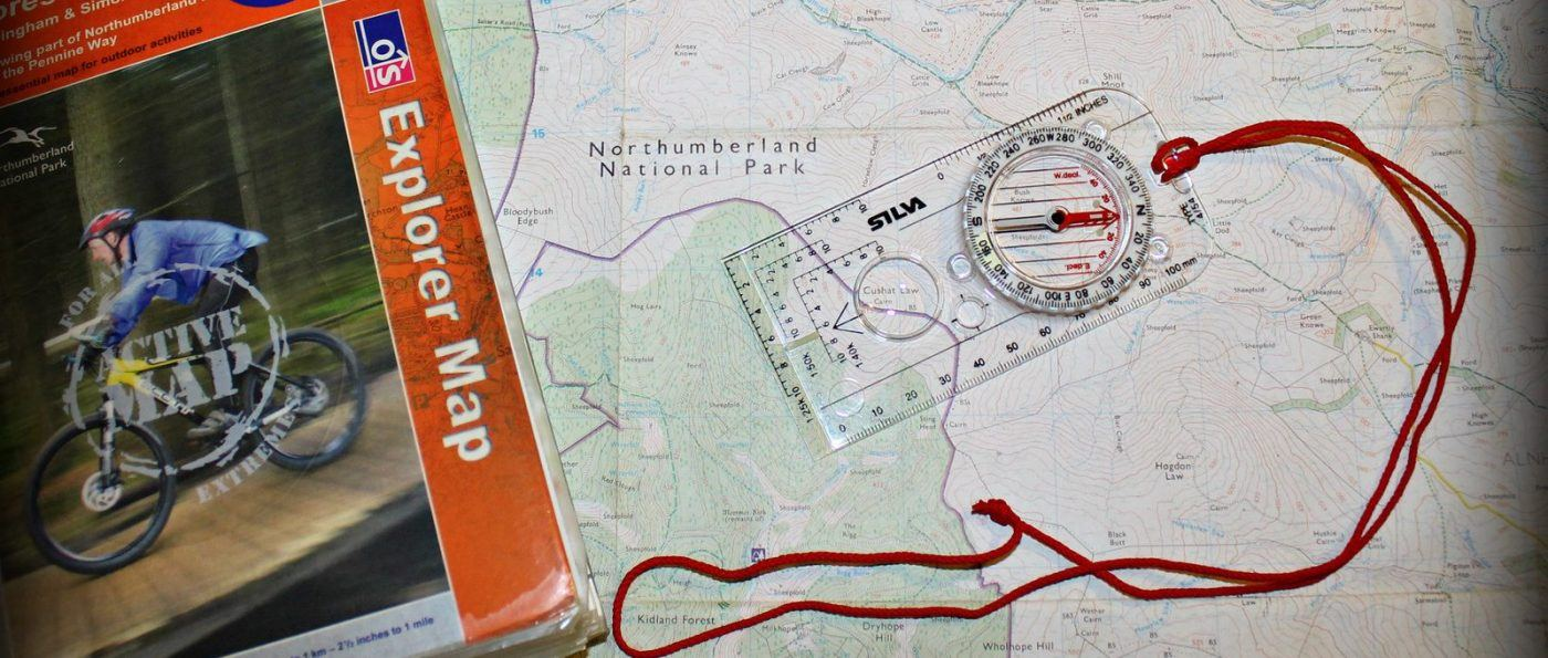 A map to help with navigation in the National Park
