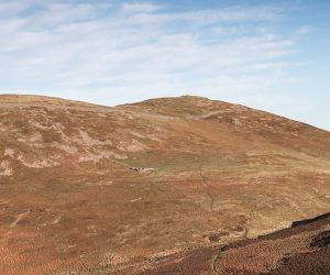 Remains of the hillfort on Yeavering Bell