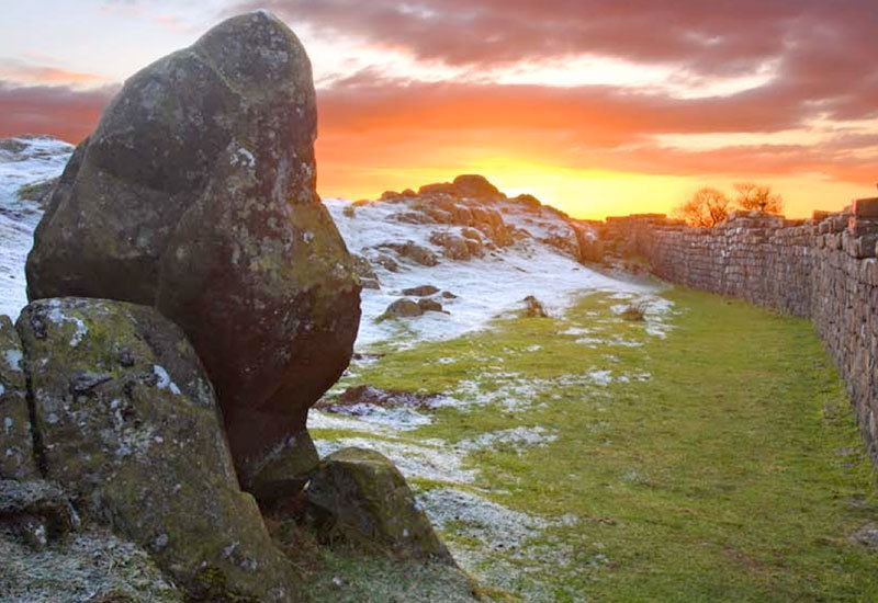 Hadrian's Wall in the Winter.