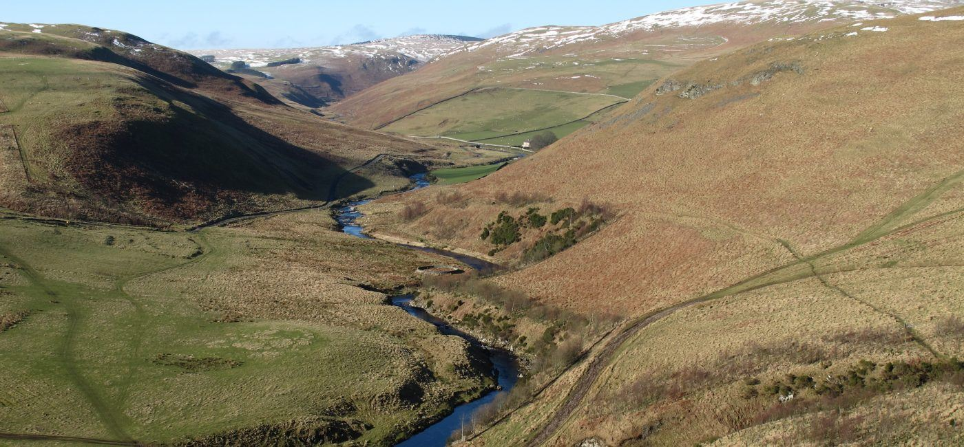 Upper Coquetdale from the Pass Peth