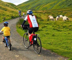 Family Cycling in the cheviots