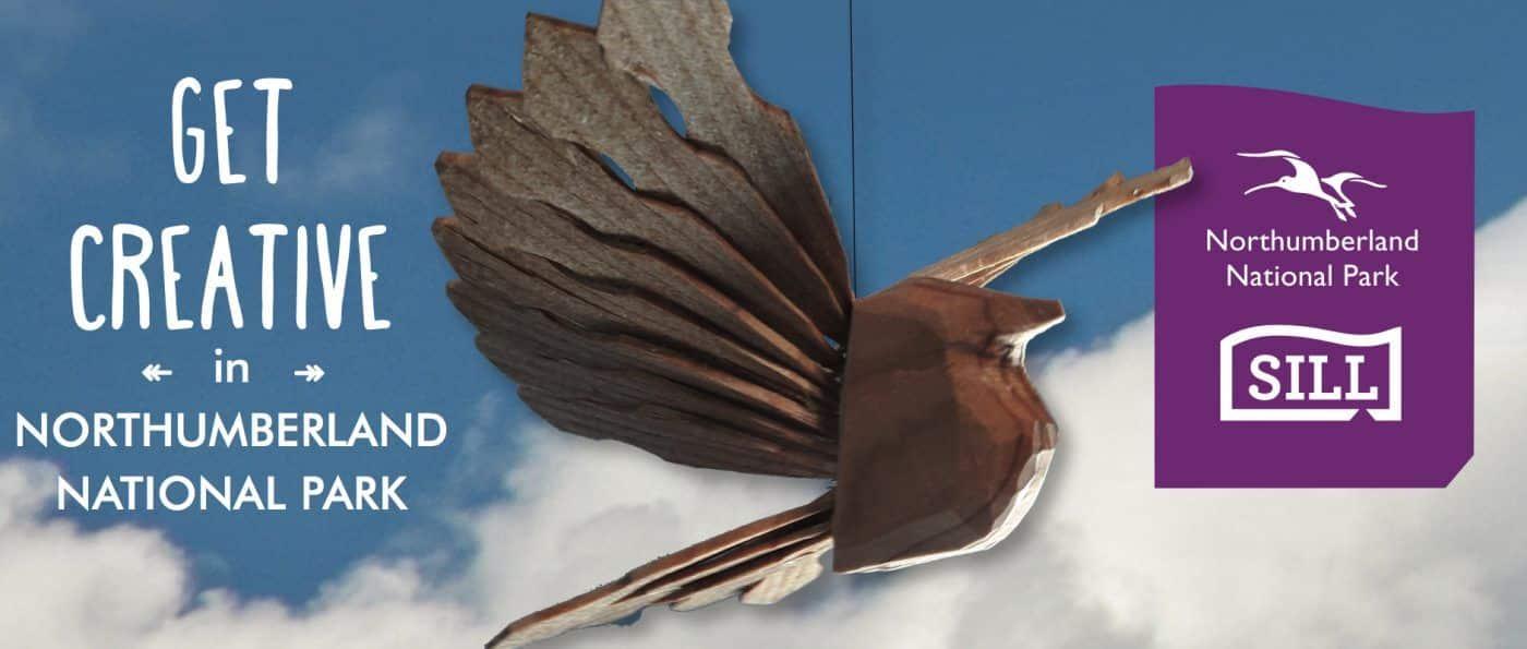 an advert of creative craft events showing a wooden fan bird