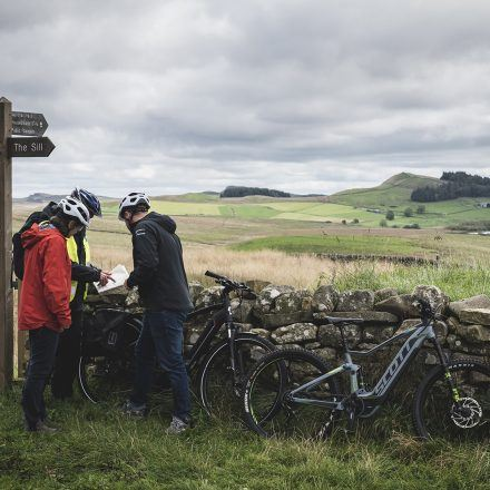 Ebike riding near Hadrian's Wall