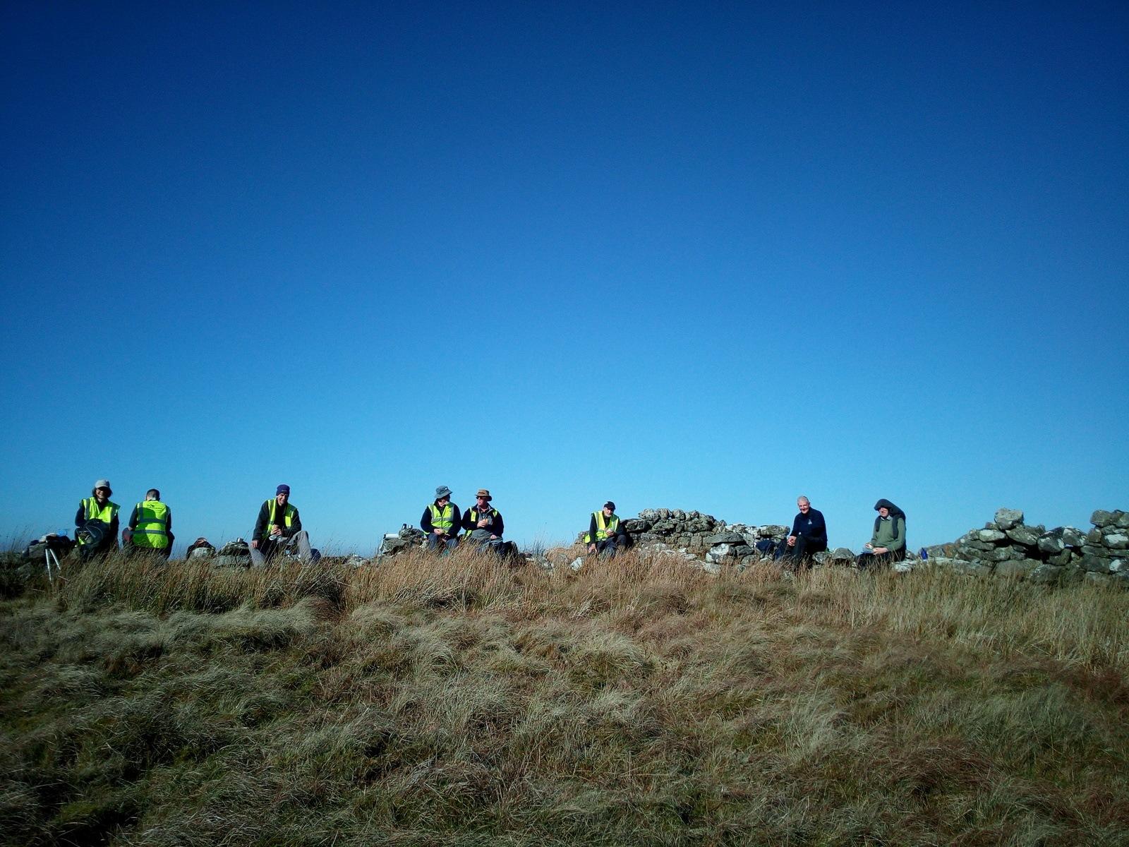 Volunteers on Steng Moss