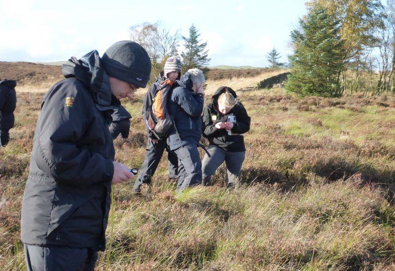 volunteers working on Steng Moss peat bog