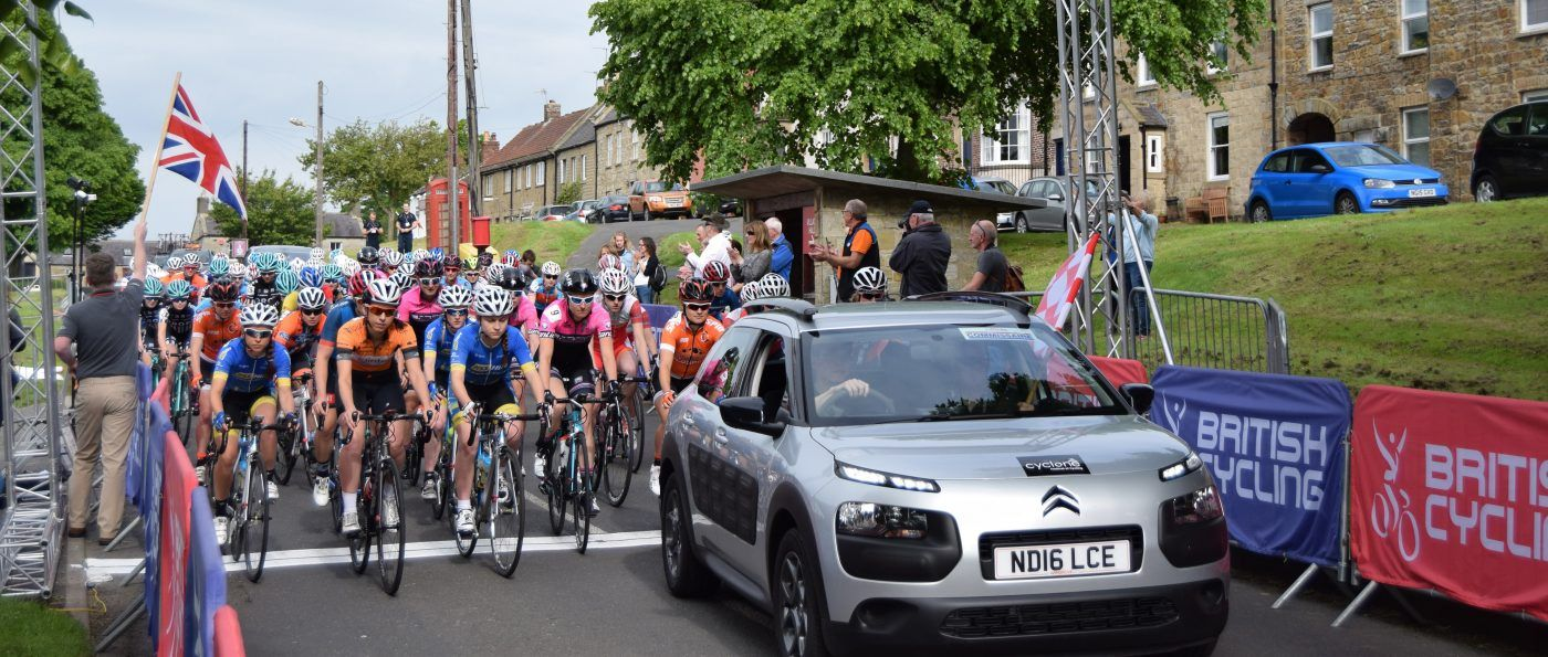 The start of the 2017 Curlew Cup road race