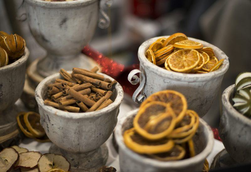 Christmas spices in jars