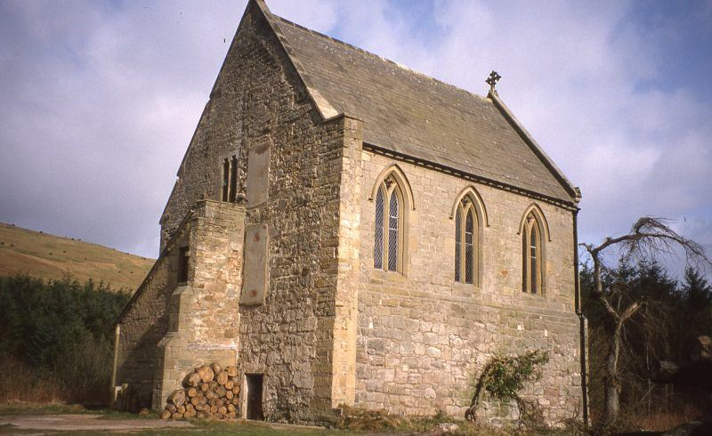 A view of Biddlestone Chapel in Coquetdale.