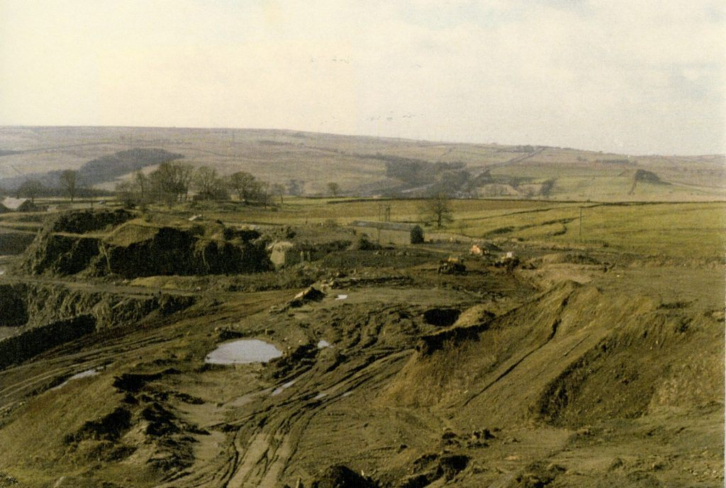 A photo of the quarry at Walltown taken in 1985