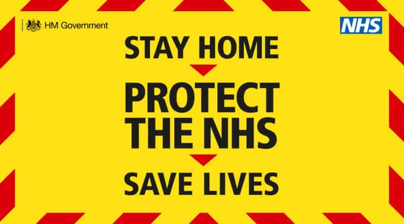Government Stay at Home Save Lives Protect the NHS graphic