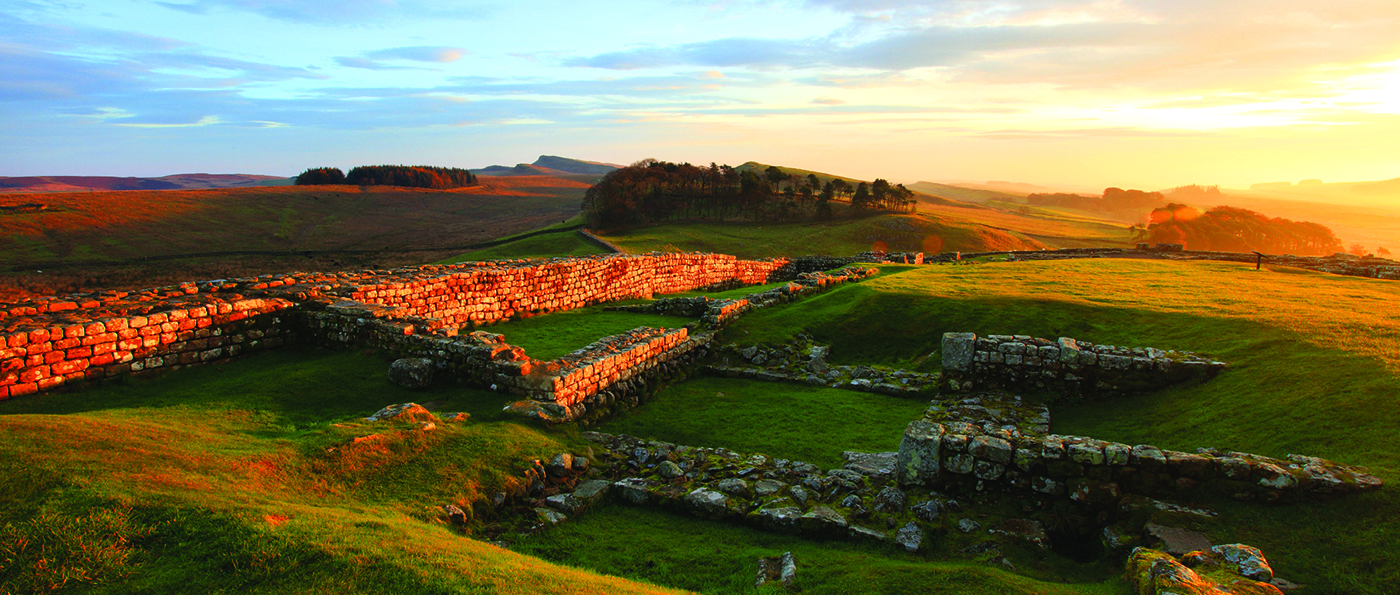 Housesteads Fort at sunset
