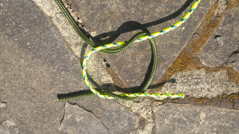 the creation of a reef knot
