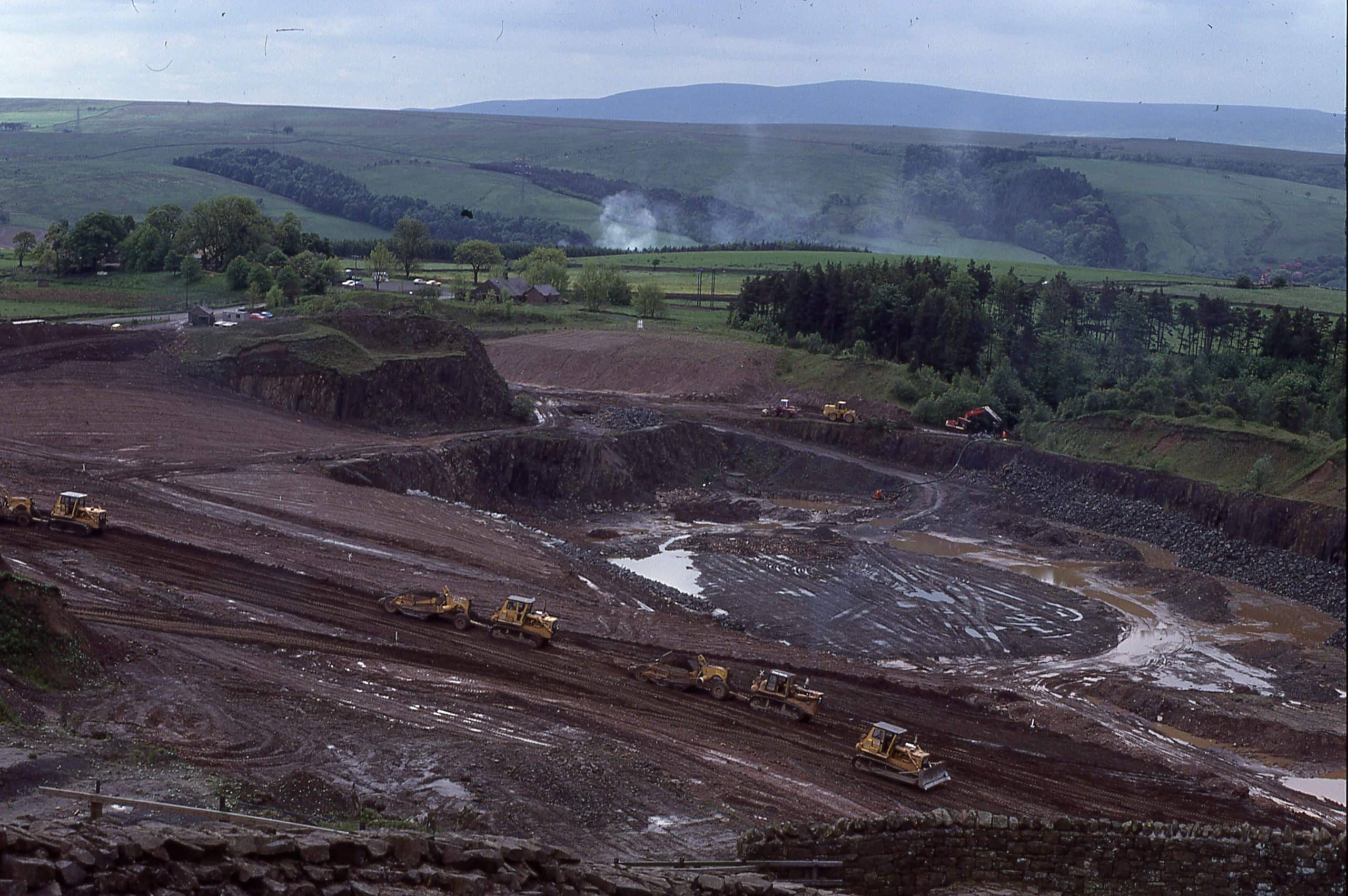 A view of Walltown Quarry from the 1980s