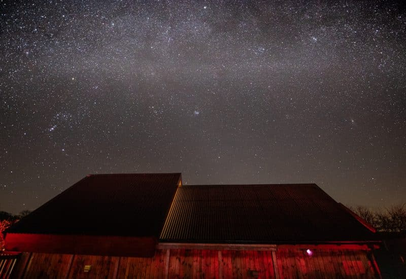 Starry skies above the Battlesteads Observatory
