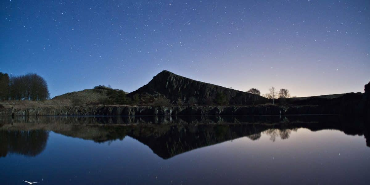 Starry skies about Cawfields on Hadrian's Wall