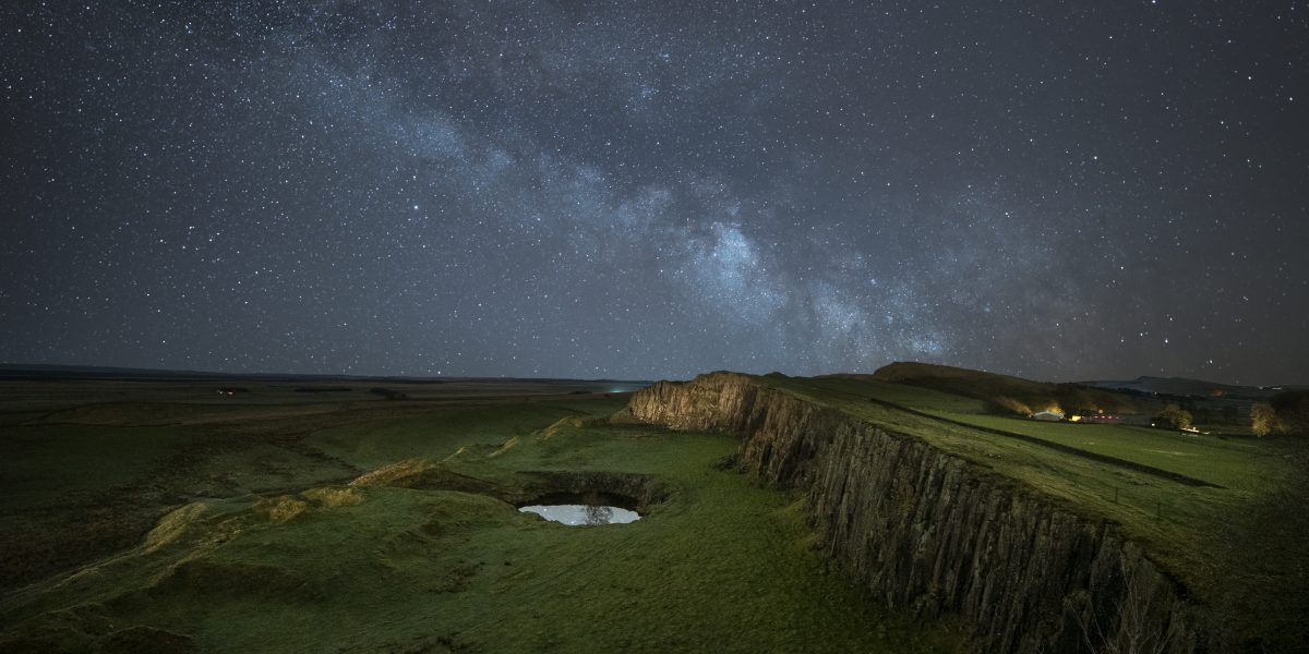 TheMilky Way above Walltown Crags