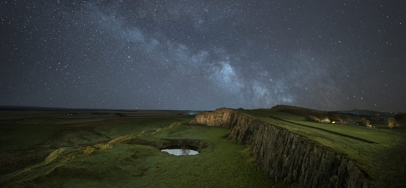 The Milky Way above Walltown Crags
