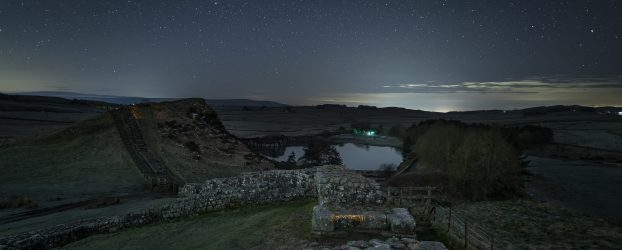 Cawfields car park at night