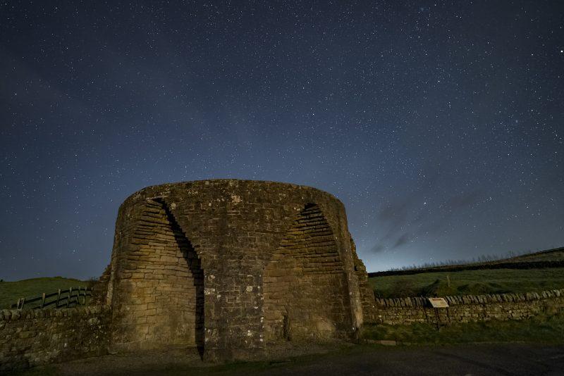 Stars over Crindledykes Lime kiln