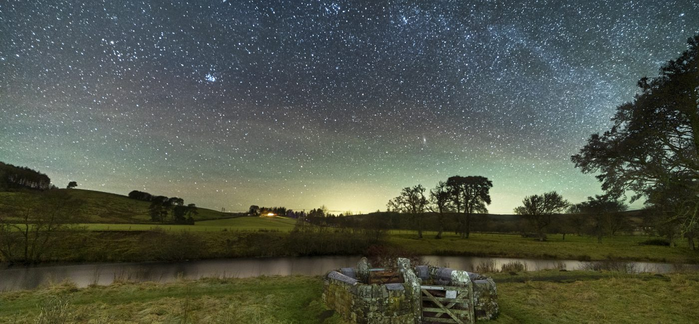 The Milky Way over the Falstone Stell