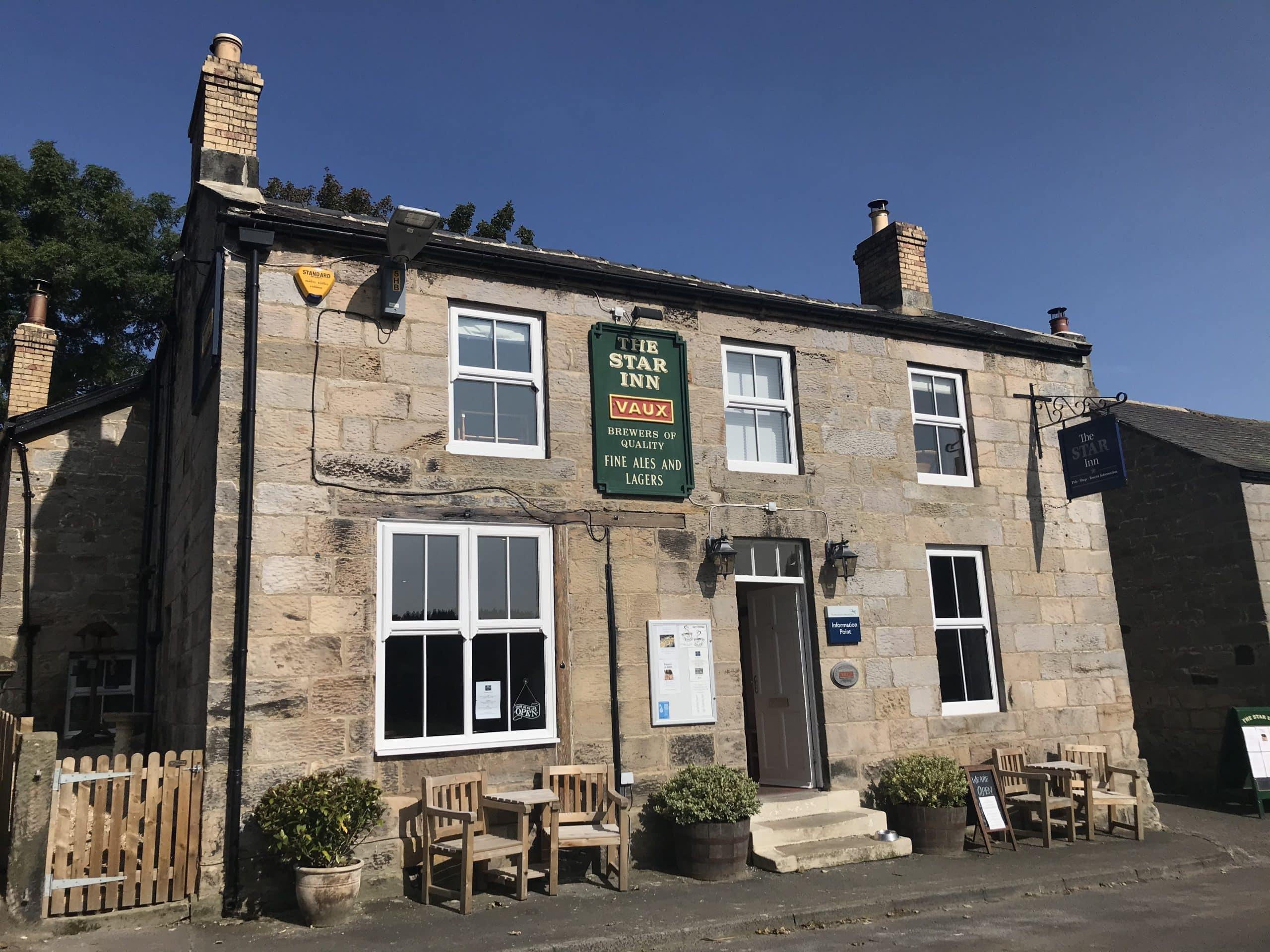 A photograph showing the exterior of The Star Inn in Harbottle