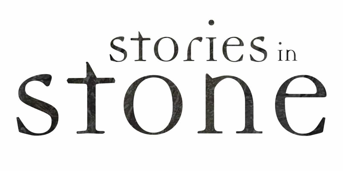 Logo for Exhibition with text reading Stories in Stone