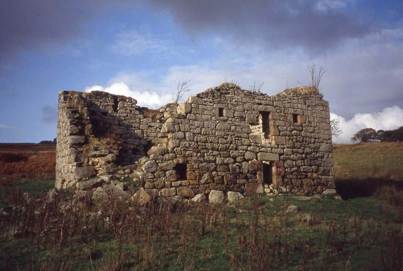A view of the ruins of Low Cleughs Bastle